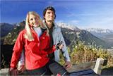 schöne Aussichten in den Alpen