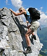 Klettern im Gebirge