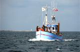 Angeltour auf einem historischen Fischkutter